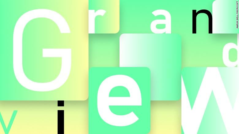 Microsoft Grandview font