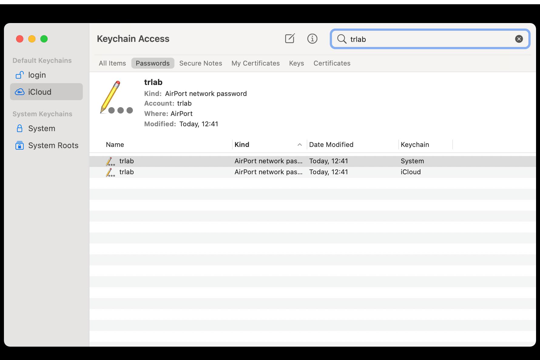 Apple Keychain Access