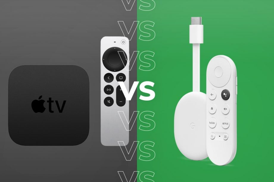 Apple Tv 4k 2021 Vs Chromecast With Google Tv Which Media Streamer Should You Buy Trusted Reviews