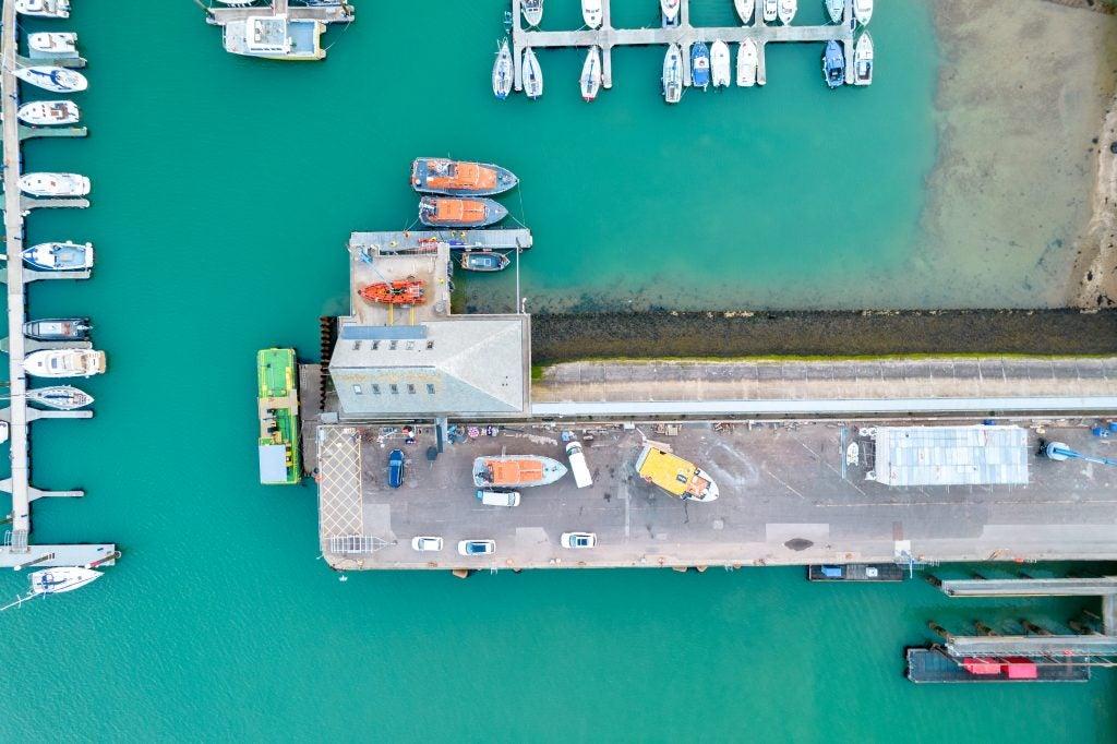 DJI Air 2S sample image showing boats