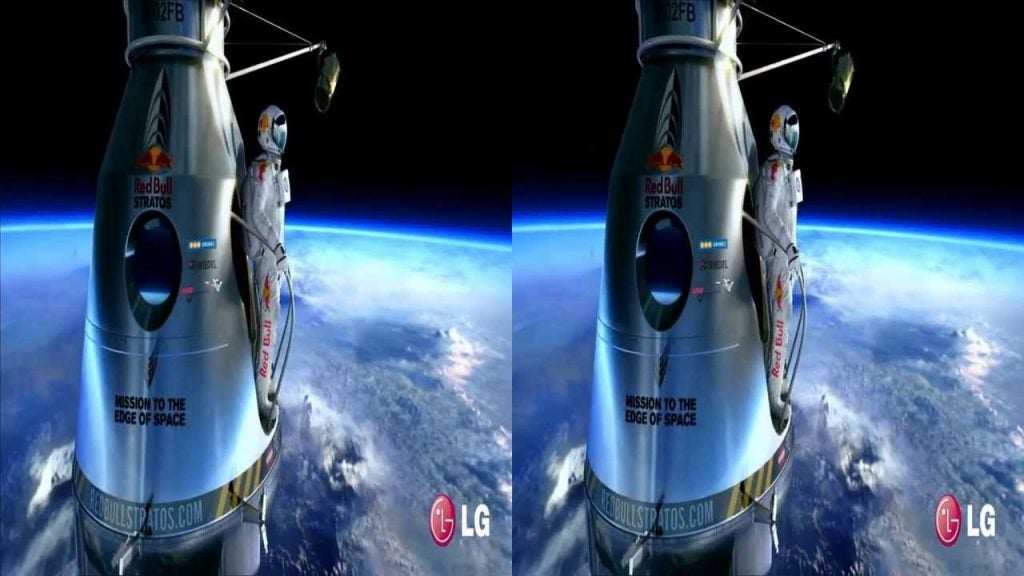 Side by side video example for 3D