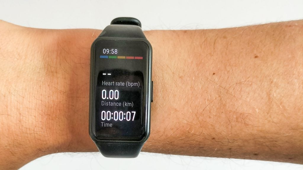 Fitness tracking on the Honor Band 6