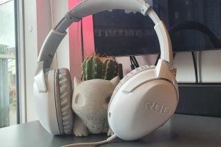Asus ROG Strix Go Core ML next to cactus