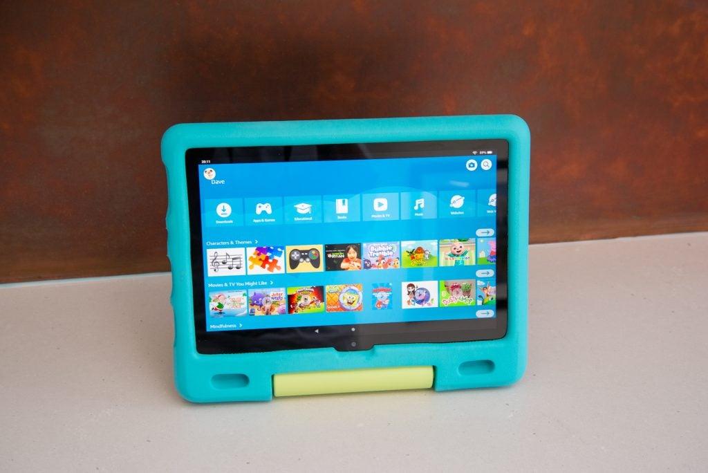 Amazon Fire HD 10 Kids main interface