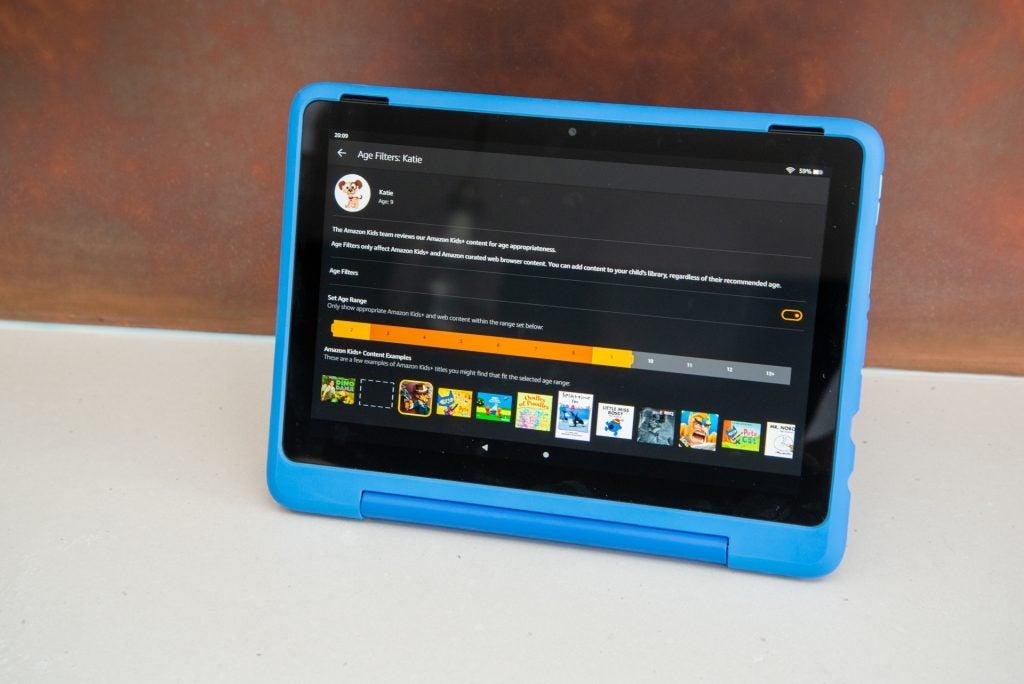 Amazon Fire HD 10 Kids Pro age settings
