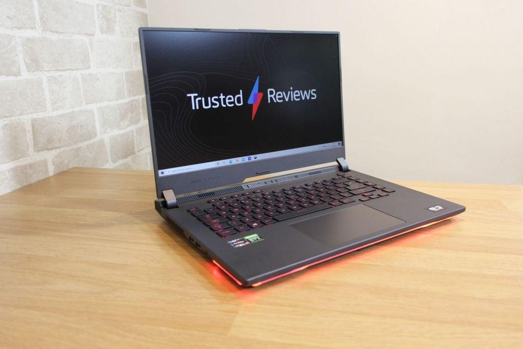 Asus ROG Strix G15 2021 on a desk