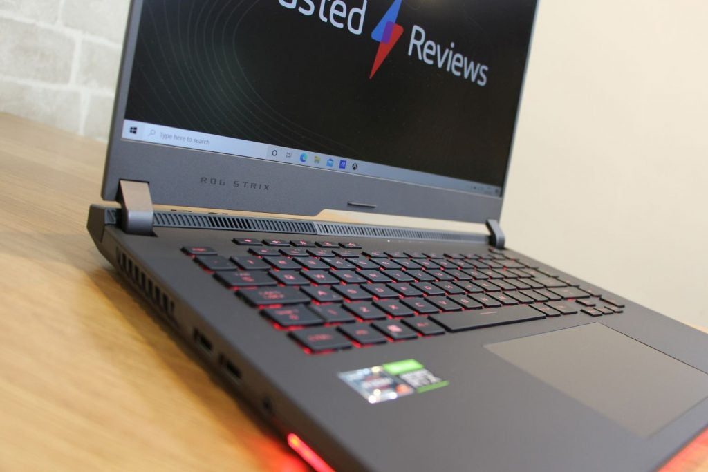 Asus ROG Strix G15 G513 close up on the chassis
