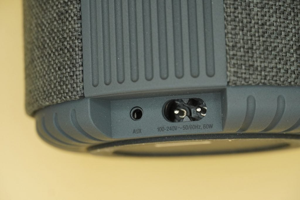 Physical connections on the Audio Pro G10 wireless speaker