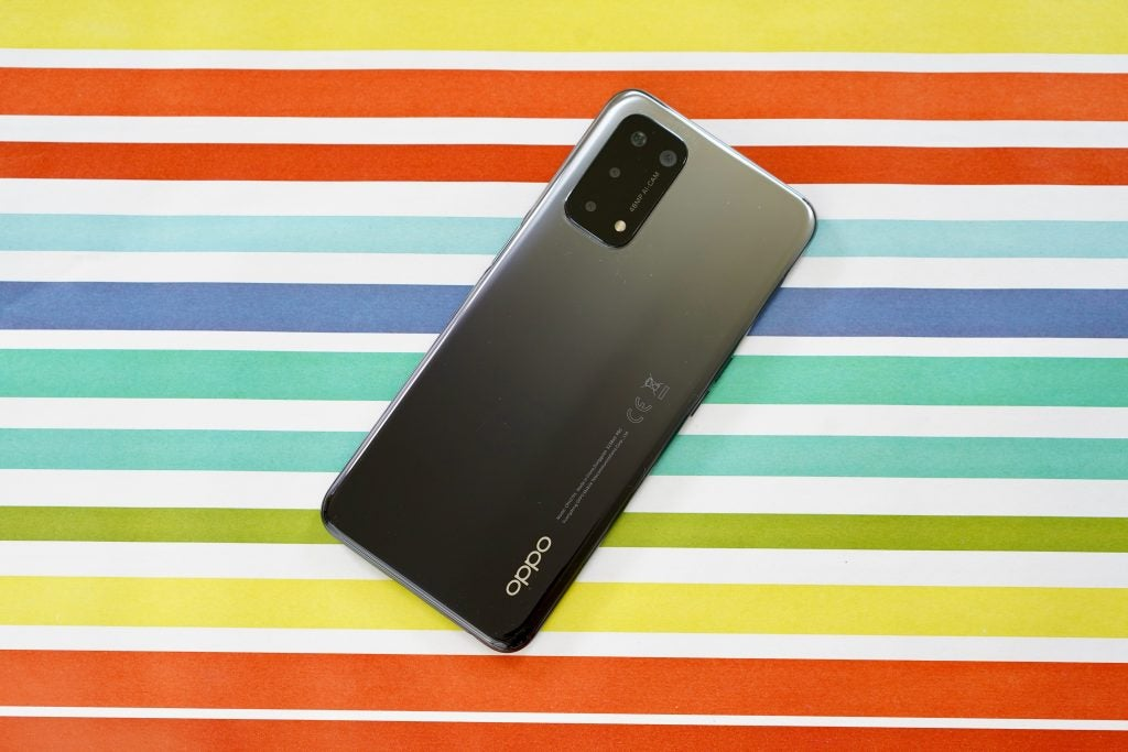 Oppo A54 5G rear of the device