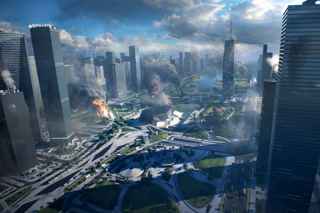 Battlefield 2042: Explosions in the middle of a city
