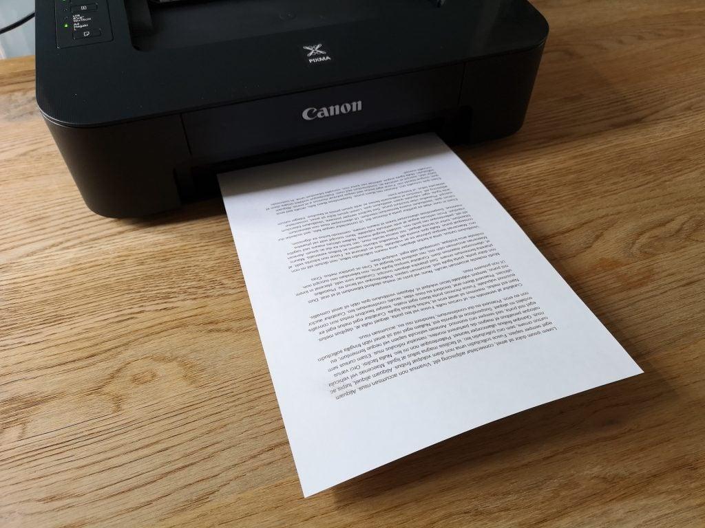 Papel de impresión Canon Pixma TS205
