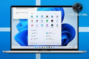 MacBook Pro with Windows 11 (mock image)