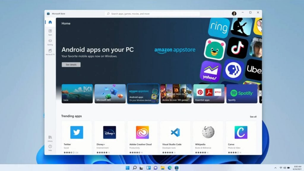 Android apps Windows 11