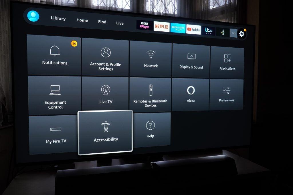 Amazon Fire TV Stick settings page