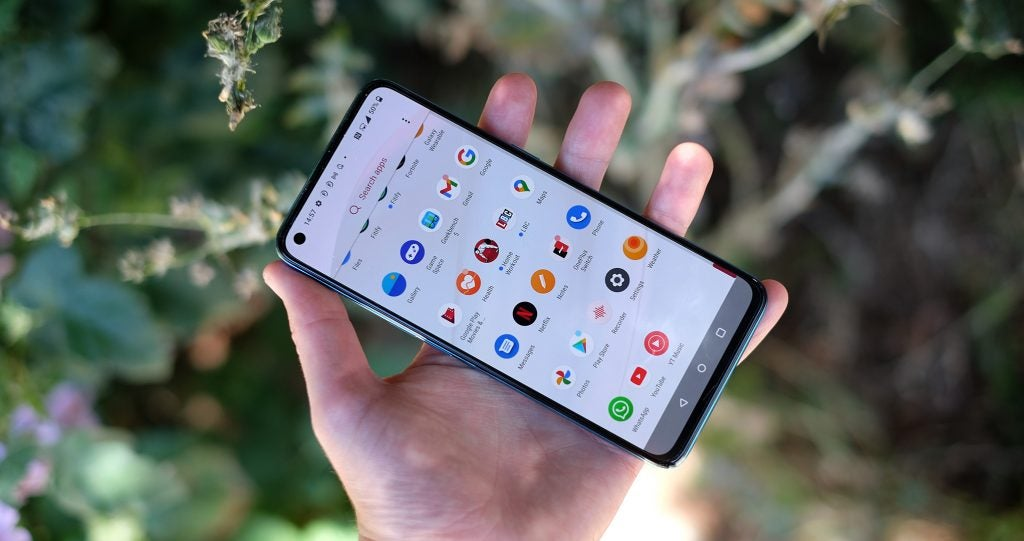 The OnePlus Nord CE 5G's ColorOS interface is good