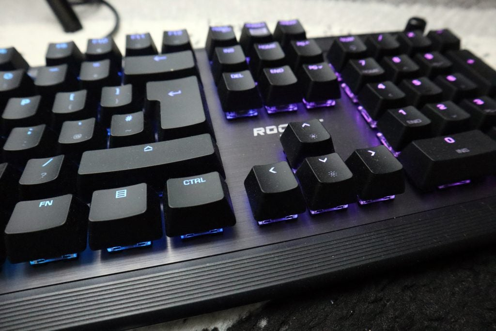Roccat Pyro close up of the keys