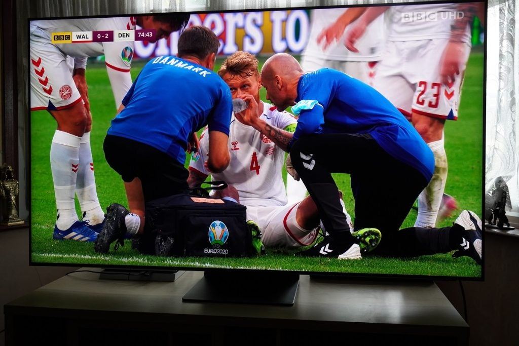 Euro 2020 match in 4K HLG on iPlayer