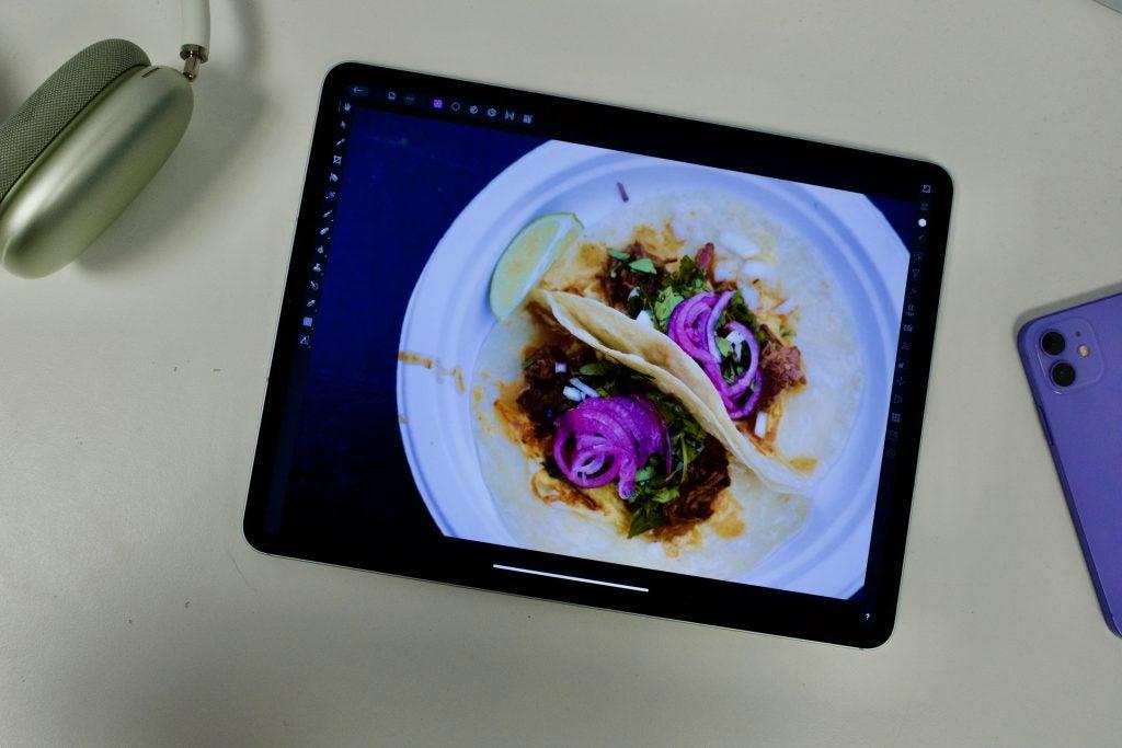 iPad Pro 2021 showing photo editing