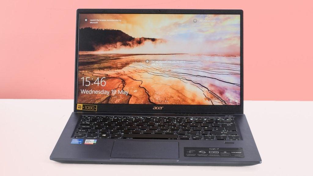 Acer Swift 3X on a desk