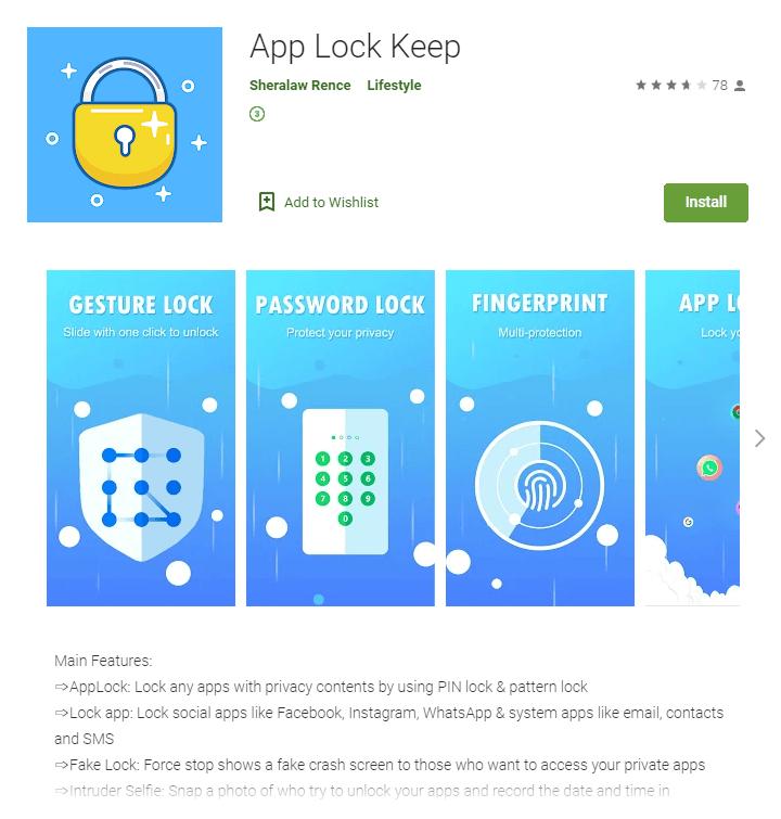 App Lock Keep Google Play Malware