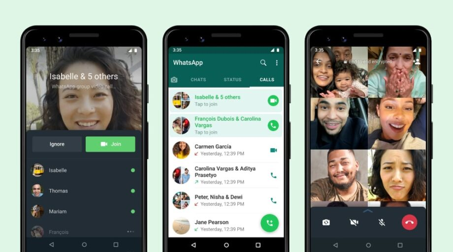 WhatsApp joinable group calls