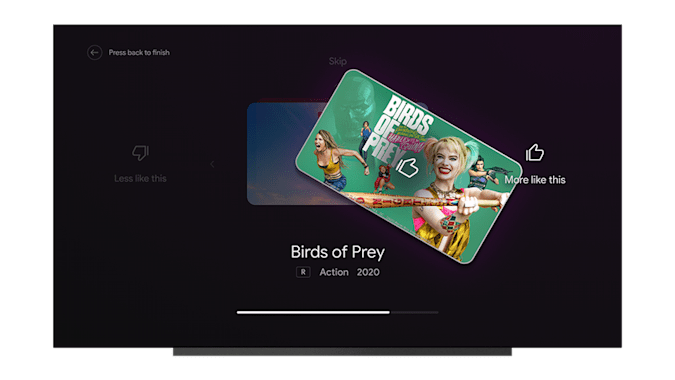 Android TV tune recommendations