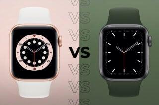 Apple Watch 6 vs Apple Watch SE side by side