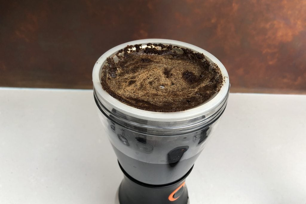 Asobu Cold Brew coffee maker with coffee in it