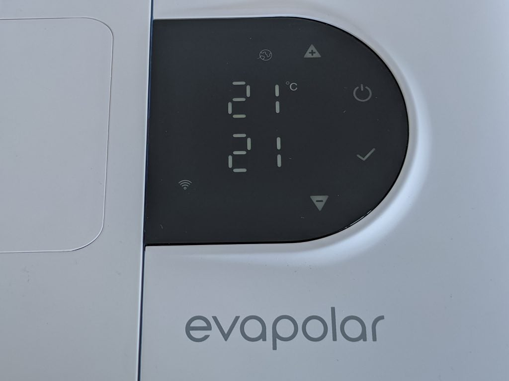 Evapolar evaSMART control panel