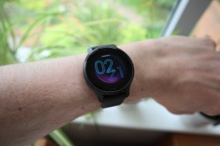 The Garmin Venu 2S worn on a wrist