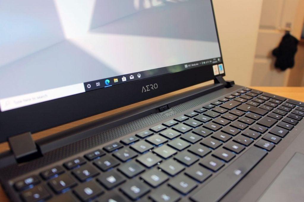 Gigabyte Aero 15 OLED keyboard