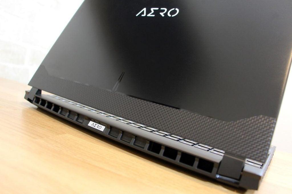 Laptop's rear vent