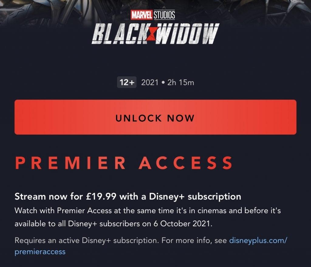 Black Widow Disney Plus