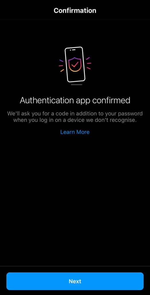 This is what will be displayed on your screen when you set up two-factor authentication with a third-party app.