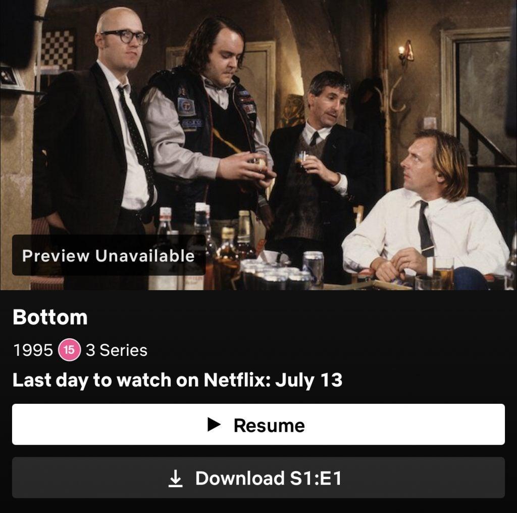 Bottom leaving Netflix