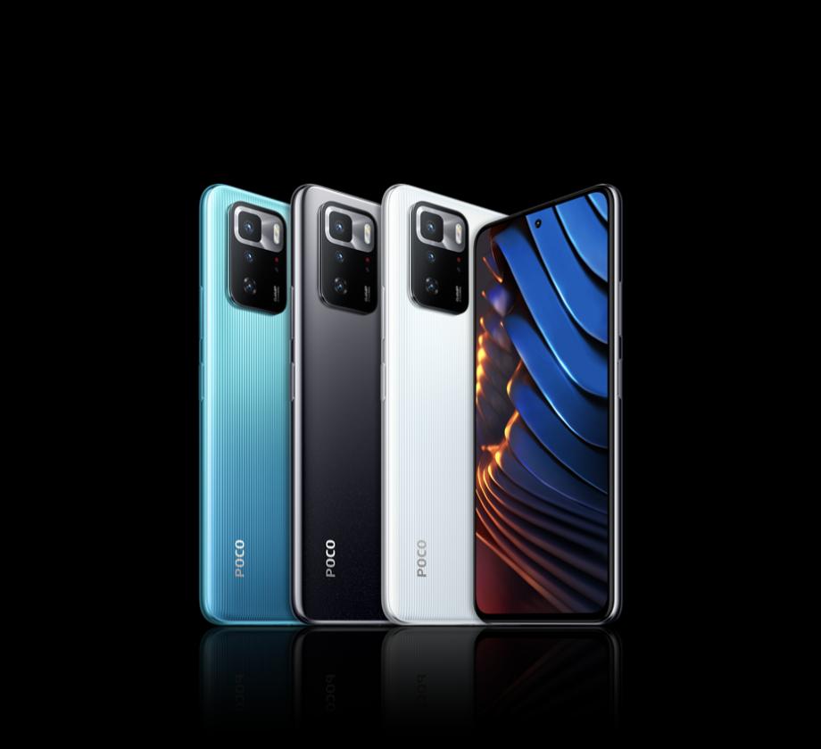 POCO X3 GT smartphone collection.