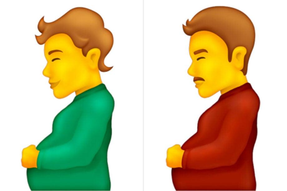 Pregnant man and pregnant person emoji.