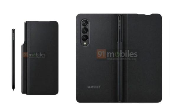 Galaxy Z Fold 3 case leak S Pen