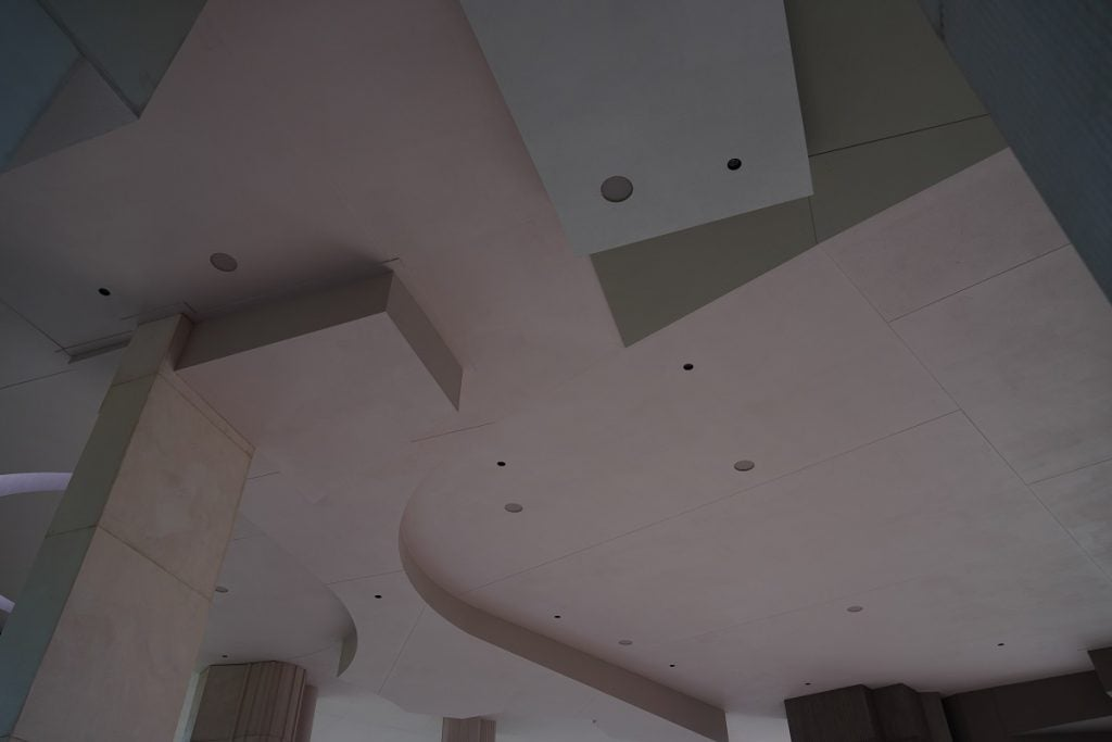 L-ISA speakers in the ceiling at the Serpentine Pavilion