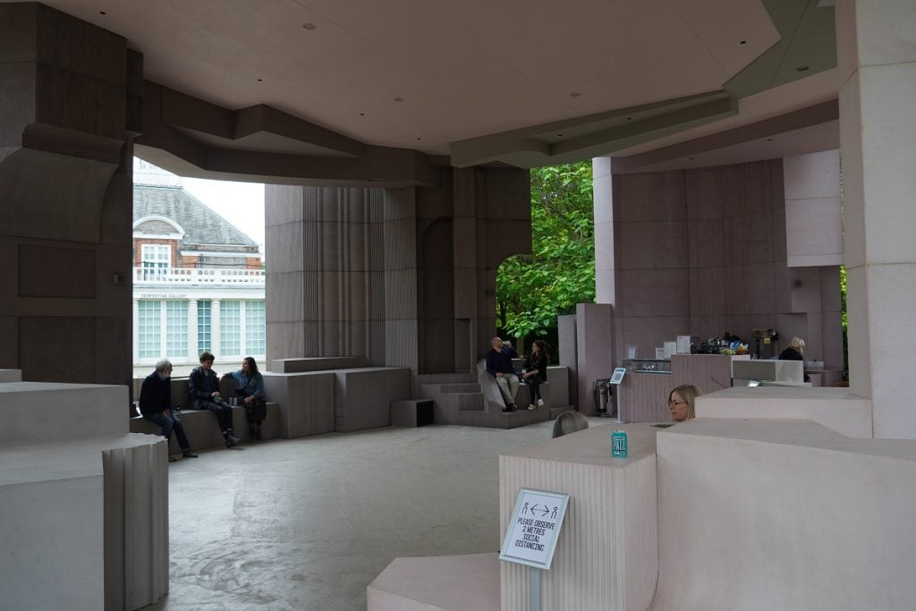 listening space at the Serpentine Pavilion