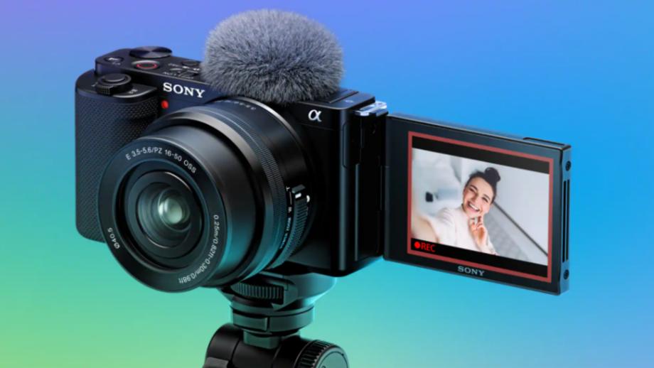 A shot of the new Sony ZV-E10 vlogging camera