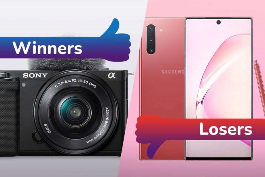 Sony ZV-E10 wins whilst the Galaxy Note is this week's loser