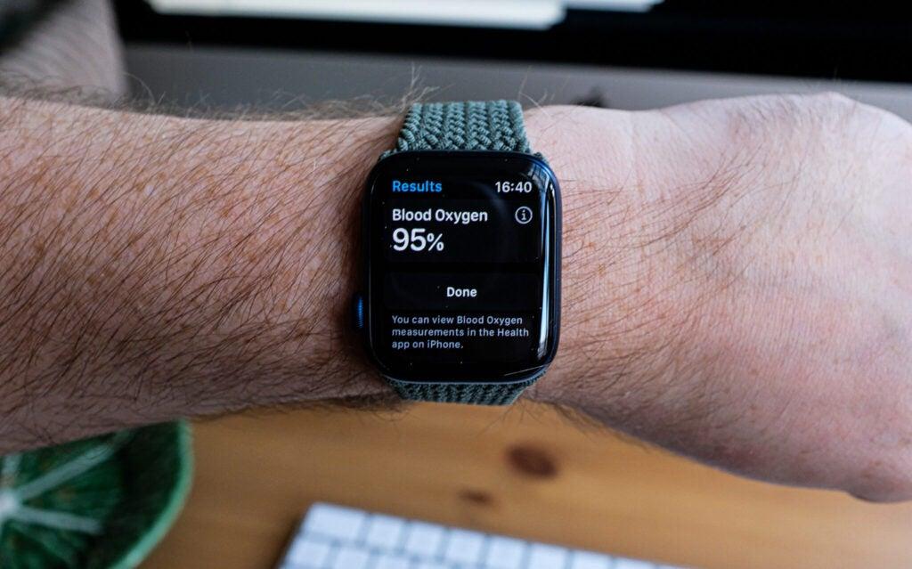 apple watch 6 blood oxygen interface