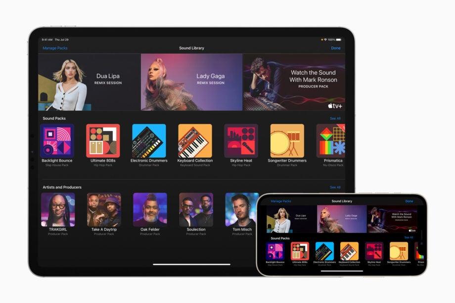 Apple GarageBand update Dua Lipa Lady Gaga