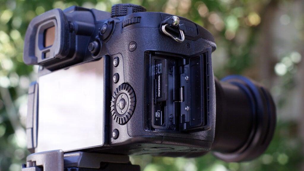 Panasonic Lumix GH5 II SD card slots and rear display