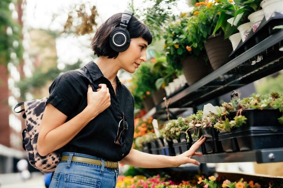 ATH-M50xBT2 headphone lifestyle shot