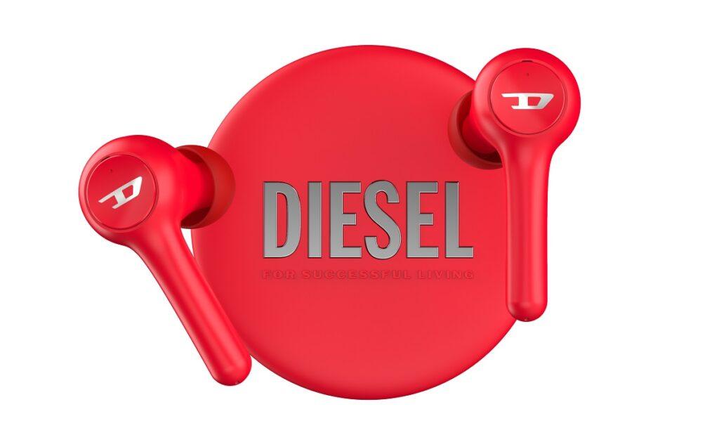 Diesel True Wireless earbuds and case