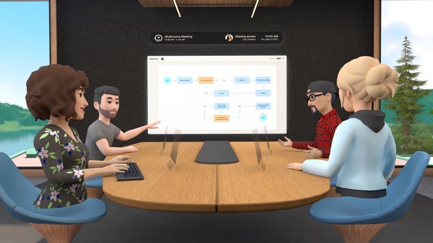 Facebook VR workspace