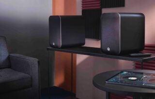 Q Acoustics M20 on shelf