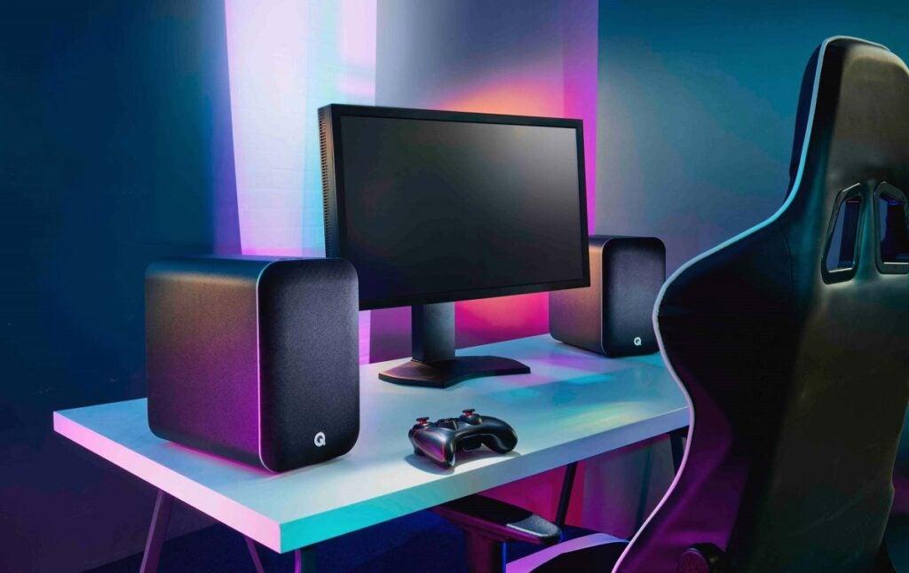 Q Acoustics M20 on desk